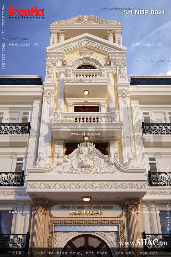 Nhà phố mặt tiền 6m kiến trúc Pháp cổ điển – SH NOP 0091 3