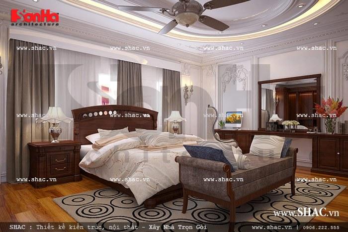 Thiết kế biệt thự hai tầng kiểu Pháp đẹp – SH BTP 0076 9