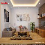 Phòng khách của căn hộ tầng 3 sh nod 0137