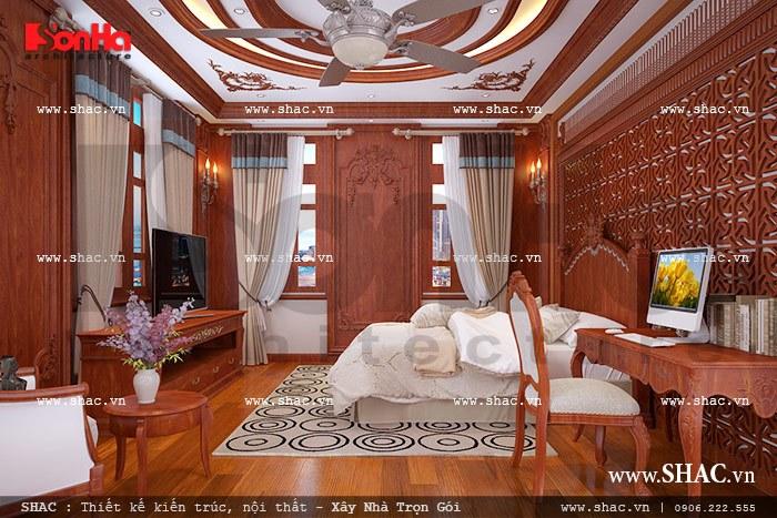 Phòng ngủ được ốp gỗ đẹp sh btld 0022