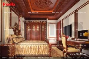 Phòng ngủ trần gỗ cao cấp sh btld 0022
