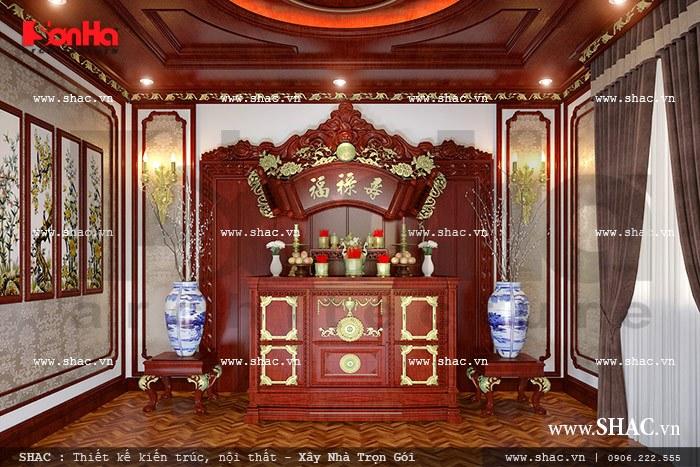 Phòng thờ cổ điển truyền thống sh btld 0022