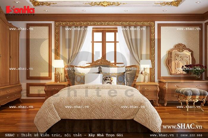 Mẫu nội thất phòng ngủ Pháp sang trọng với cách bố trí khoa học được đánh giá cao