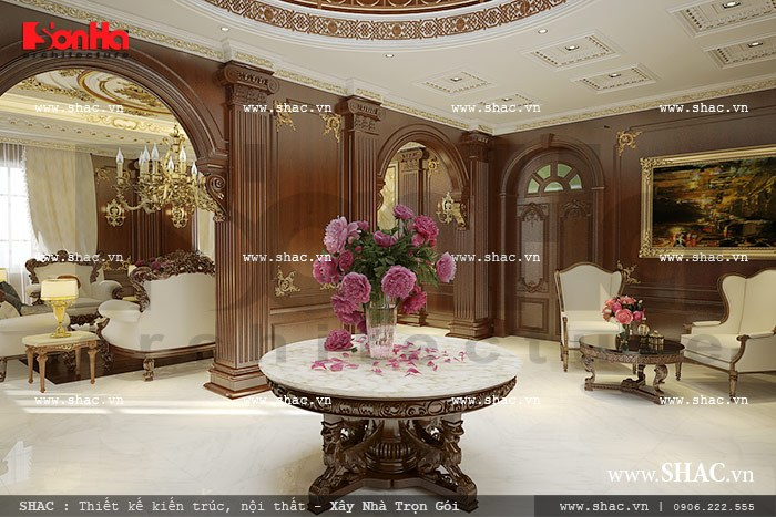 Thiết kế biệt thự hai tầng kiểu Pháp đẹp – SH BTP 0076 12