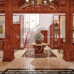 Sảnh trung tâm của biệt thự cổ điển sh btld 0022
