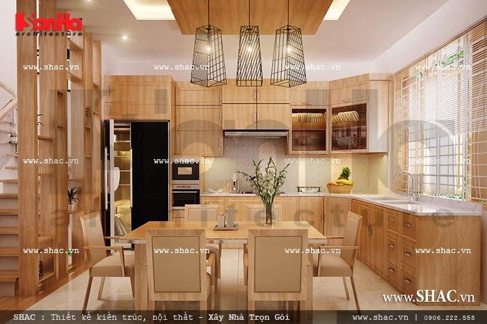 Thiết kế bếp ăn nội thất gỗ đẹp sh nod 0136