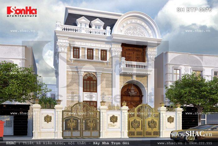 Nếu yêu thích nét Pháp cổ điển giản dị các CĐT Đà Nẵng có thể chọn biệt thự đẹp này