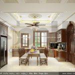 Thiết kế phòng bếp ăn cổ điển kiểu pháp sh btp 0076