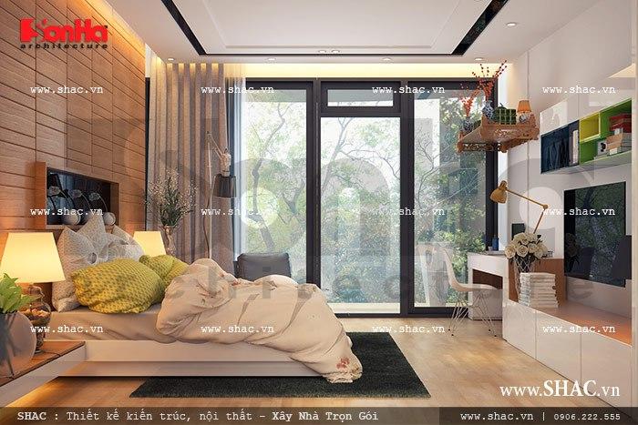 Thiết kế phòng ngủ đẹp cho chủ nhà tầng 5 sh nod 0137