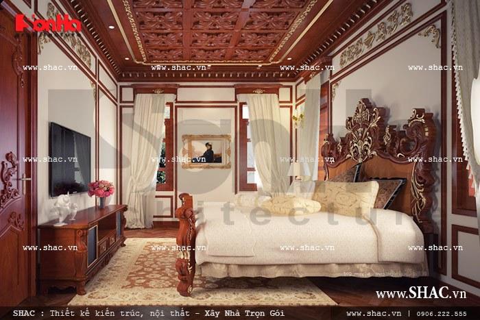 Thêm một phương án thiết kế nội thất phòng ngủ cổ điển dành cho biệt thự lâu đài 4 tầng mặt tiền 13m tại Hà Nội