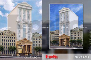 Thiết kế tòa nhà thẩm mỹ viện cao cấp sh vp 0020