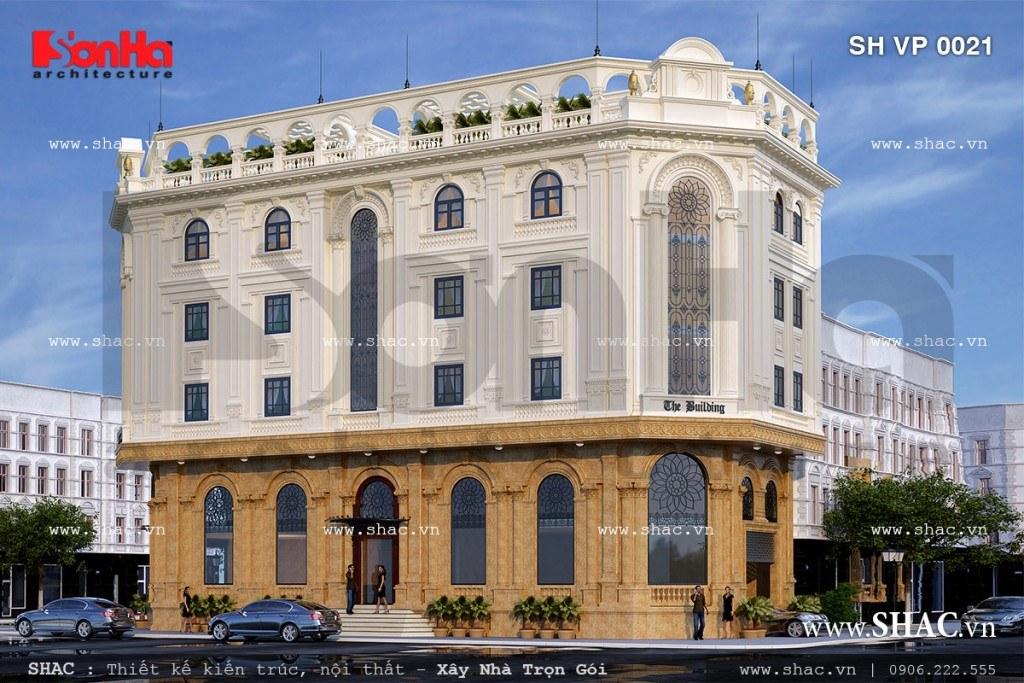 Bản vẽ thiết kế tòa nhà văn phòng 5 tầng sh vp 0021