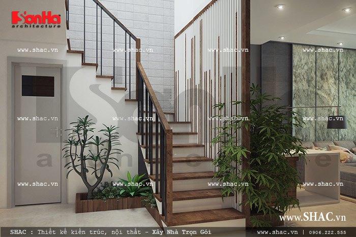 Thêm một mẫu cầu thang sang trọng và đẹp mắt cho nhà ống phong cách hiện đại đẹp