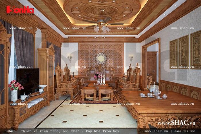Không gian phòng khách biệt thự cổ điển sh btp 0077