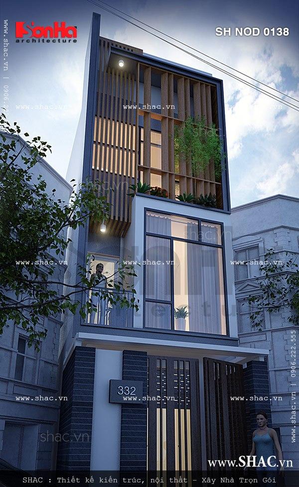 Mẫu thiết kế nhà phố mang kiến trúc hiện đại trẻ trung – SH NOD 0138 2
