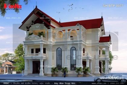 Biệt thự kiểu pháp mái ngói đẹp sh btp 0077