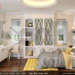 Mẫu phòng ngủ lãng mạn phong cách pháp sh btd 0038