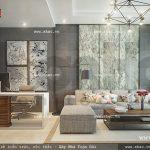 Phòng khách của gia đình mang phong cách hiện đại sh nod 0138