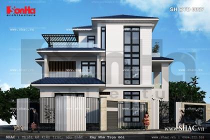 Thiết kế biệt thự 3 tầng diện tích 150m2 sh btd 0037