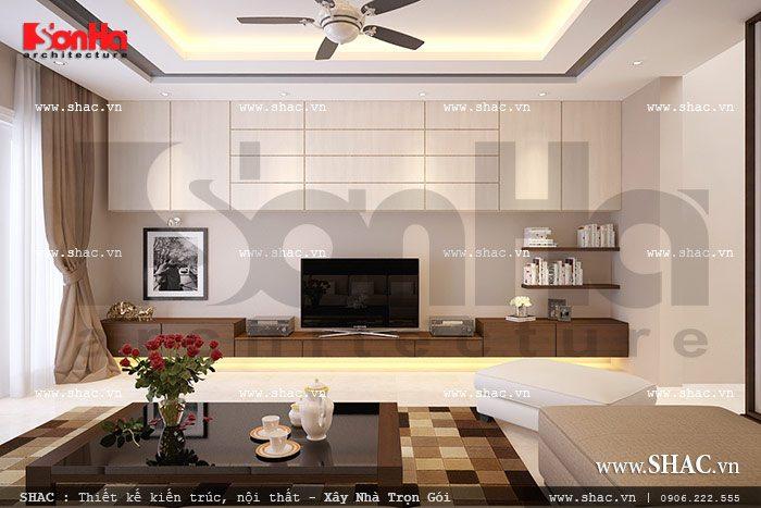 Thiết kế không gian phòng khách đẹp sh btd 0038