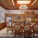 Thiết kế phòng ăn của biệt thự đẹp sh btp 0077