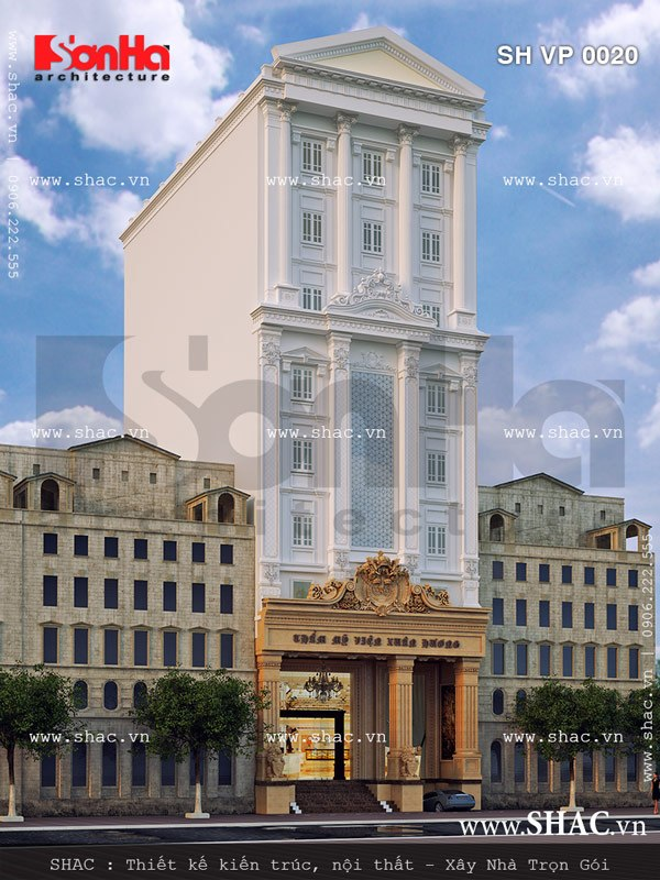 Thiết kế tòa nhà kinh doanh thẩm mỹ viện, làm đẹp sh vp 0020