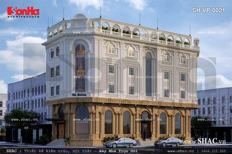 Tòa nhà cho thuê văn phòng kiến trúc pháp đẹp sh vp 0021