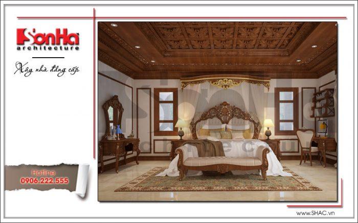 Thiết kế nội thất phòng ngủ con gái biệt thự 6 tầng tại Thái Bình sh btp 0080