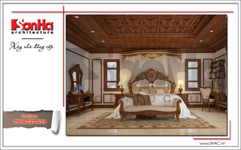 Biệt thự kiểu Pháp cổ điển có mặt tiền 8m tại Thái Bình – SH BTP 0080 10