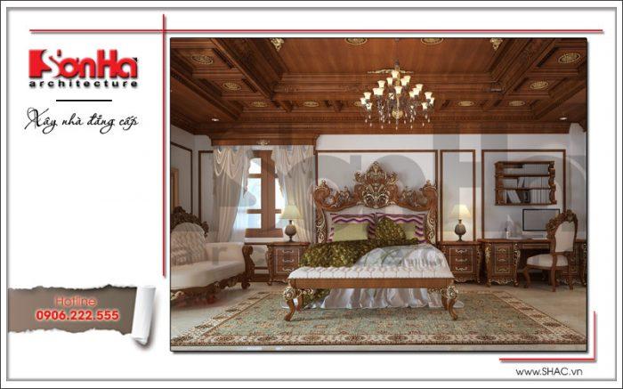 Thiết kế nội thất phòng ngủ con trai biệt thự 6 tầng tại Thái Bình sh btp 0080