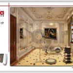 Mẫu thiết kế nội thất phòng tập biệt thự 6 tầng tại Thái Bình sh btp 0080