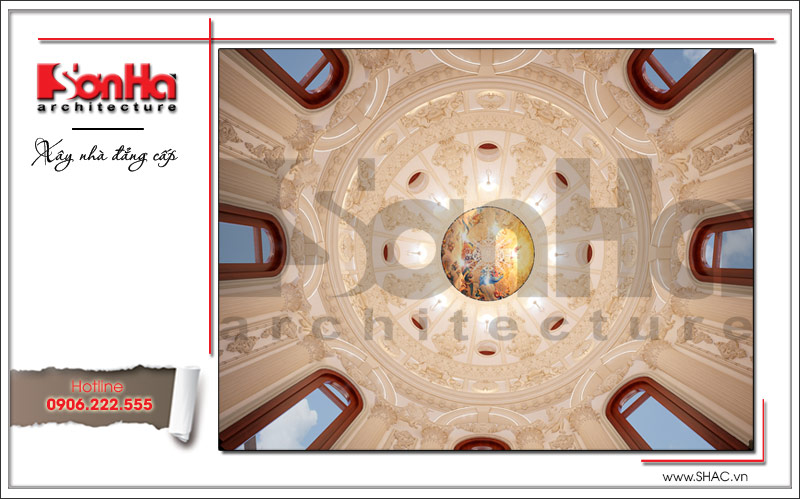 Biệt thự kiểu Pháp cổ điển có mặt tiền 8m tại Thái Bình – SH BTP 0080 18
