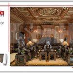 Mẫu thiết kế nội thất phòng khách cổ điển biệt thự 6 tầng tại Thái Bình sh btp 0080