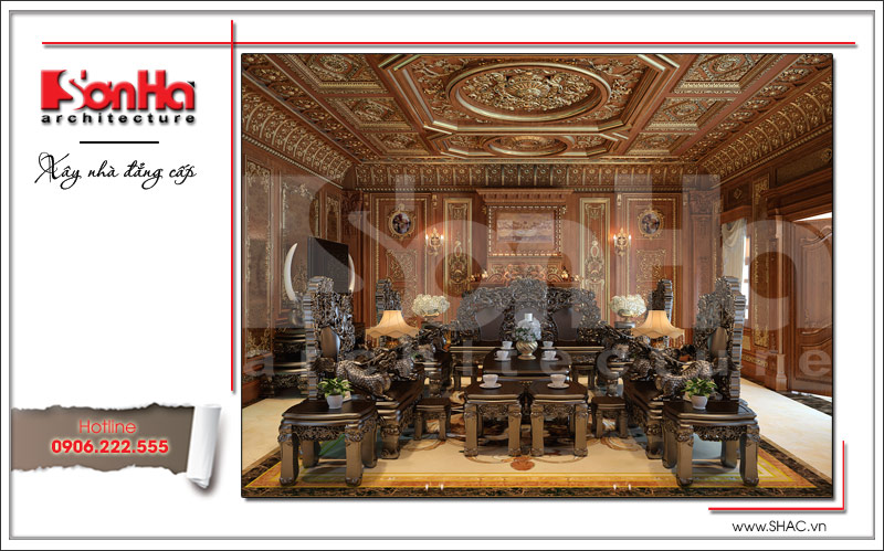 Biệt thự kiểu Pháp cổ điển có mặt tiền 8m tại Thái Bình – SH BTP 0080 4