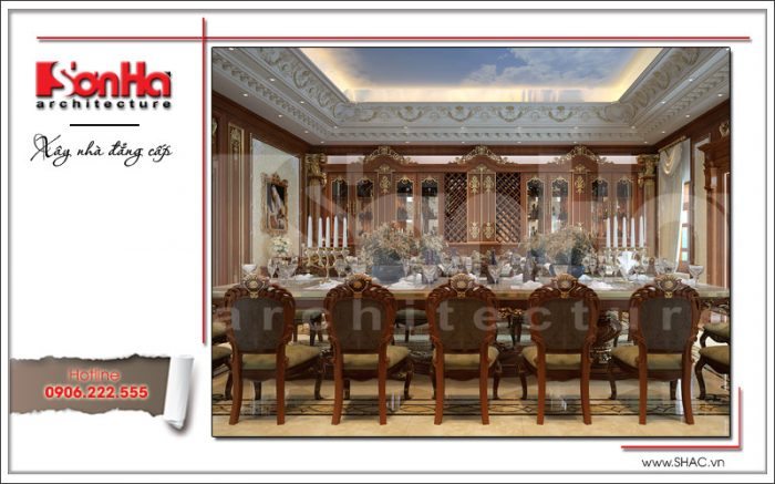 Phòng ăn biệt thự