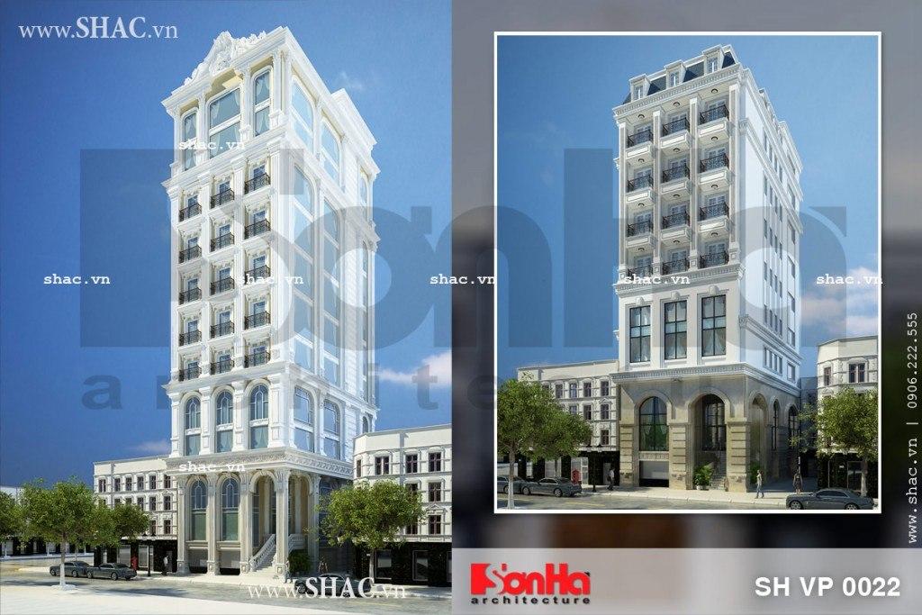 Những phương án thiết kế tòa nhà cho thuê văn phòng đẹp sh vp 0022