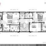 Bản vẽ mặt bằng nội thất tầng 5 của biệt thự sh btp 0080