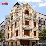 Biệt thự 4 tầng 1 tum kiểu pháp đẹp tại quảng ninh sh btp 0079