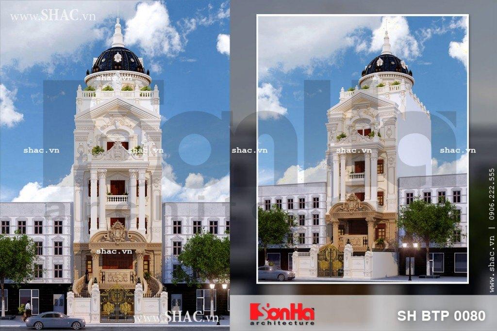 Mẫu thiết kế biệt thự kiểu Pháp mặt tiền 8m sang trọng tại tỉnh Thái Bình được chủ đầu tư đánh giá cao
