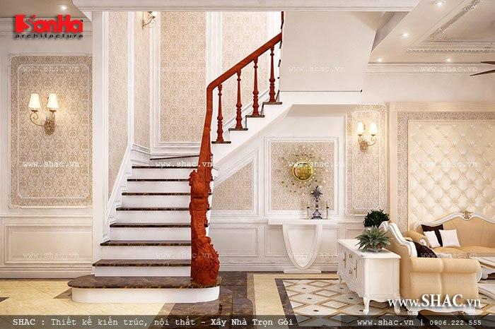 Mẫu thiết kế biệt thự với nội thất mang phong cách Pháp - SH BTP 0079 15