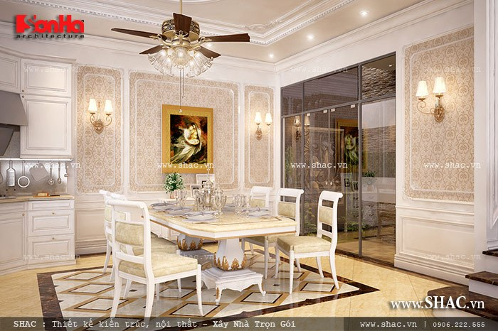 Mẫu thiết kế biệt thự với nội thất mang phong cách Pháp - SH BTP 0079 7