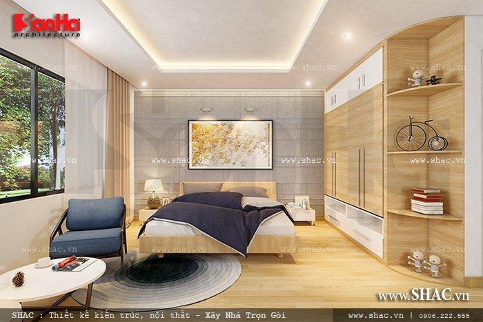 Không gian phòng ngủ đẹp cho biệt thự sh btd 0039