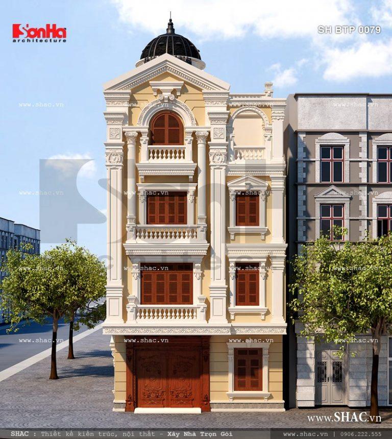 Biệt thự Pháp 4 tầng