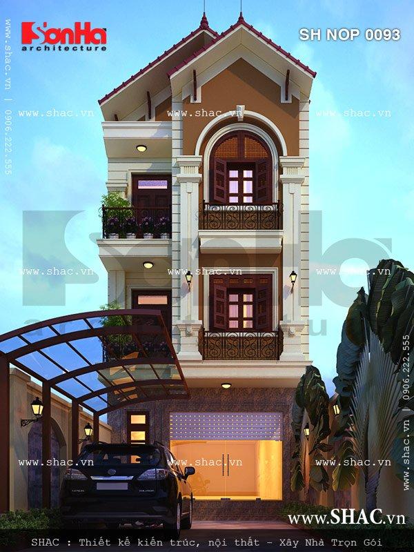 Mẫu thiết kế kiến trúc nhà ống đẹp SHAC rất được chủ đầu tư yêu thích và đánh giá cao