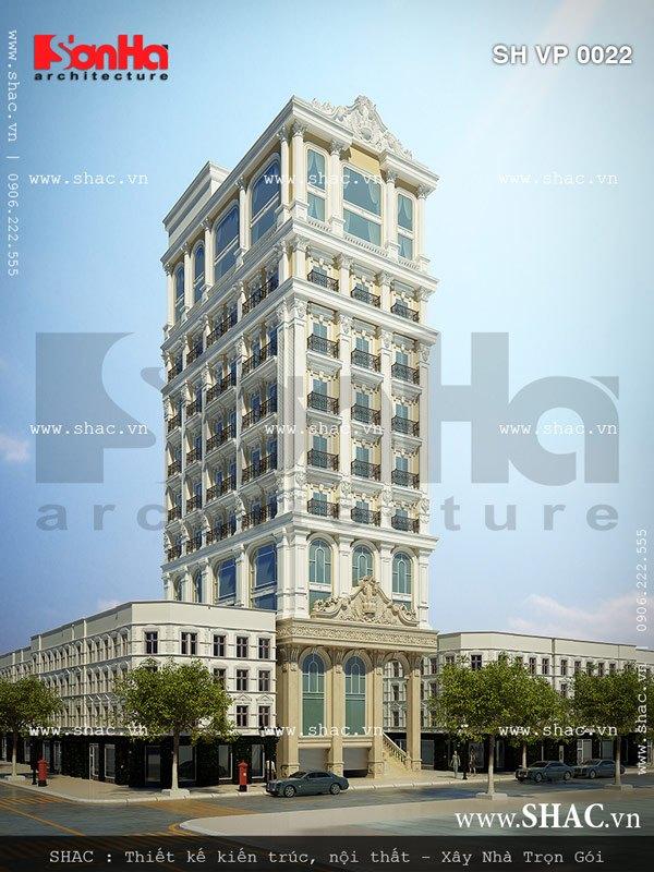 Một phương án thiết kế tòa nhà kiểu pháp đẹp sh vp 0022