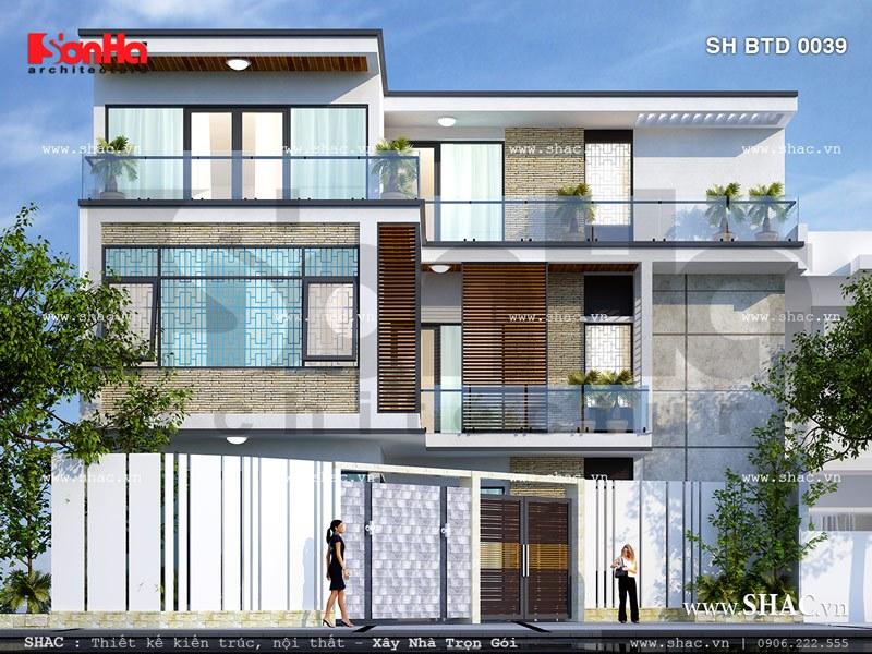 Ngôi biệt thự có mặt tiền dài 10m sh btd 0039