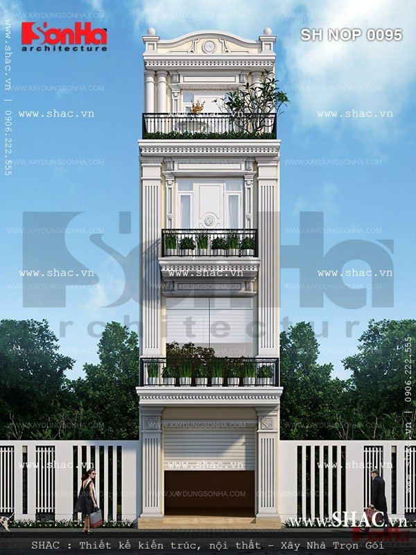 Kiến trúc nhà ống Pháp 4 tầng chinh phục mọi ánh nhìn người qua đường bởi sự tinh tế