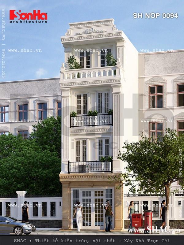 Nhà phố mặt tiền 4m kiến trúc pháp đẹp sh nop 0094