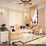 Nội thất kiểu pháp của phòng khách sang trọng sh btp 0079