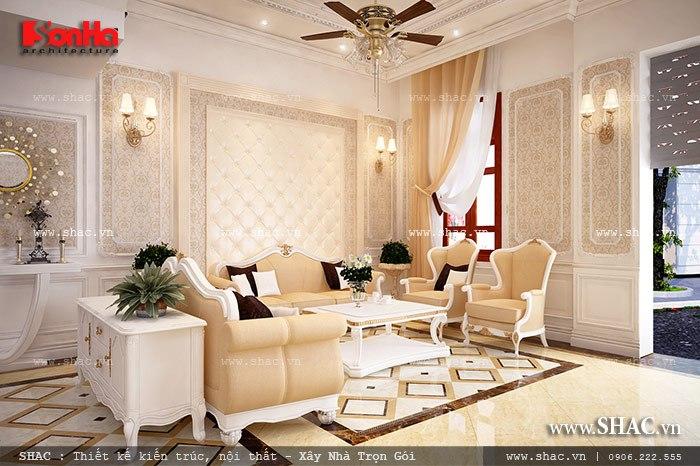Mẫu thiết kế biệt thự với nội thất mang phong cách Pháp - SH BTP 0079 8